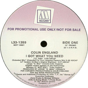 "Colin England - I Got What You Need (12"", Promo, Used)Used Records"