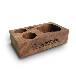 GrooveWasher Walnut Display BlockCleaning