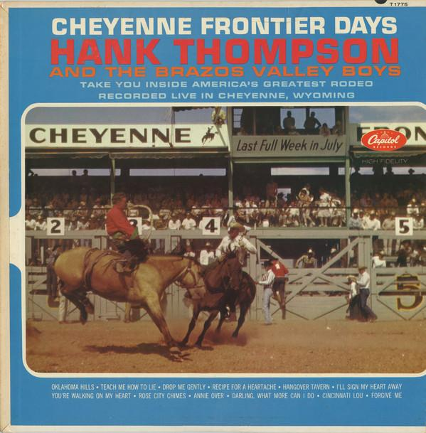 Hank Thompson and His Brazos Valley Boys - Cheyenne Frontier Days (LP, Mono, Used)Used Records