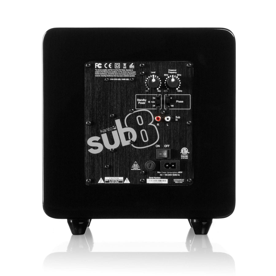Kanto SUB8 8-inch Powered SubwooferSpeakers