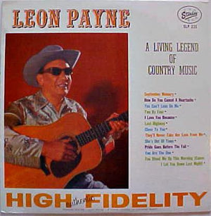Leon Payne - A Living Legend Of Country Music (LP, Used)Used Records
