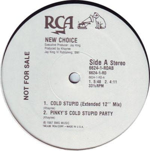 "New Choice - Cold Stupid (12"", Promo, Used)Used Records"