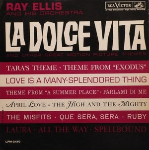 Ray Ellis And His Orchestra - La Dolce Vita And Other Great Motion Picture Themes (LP, Album, Mono, Used)Used Records