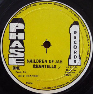 "The Chantells - Children Of Jah / Desperate Time (12"", Used)Used Records"