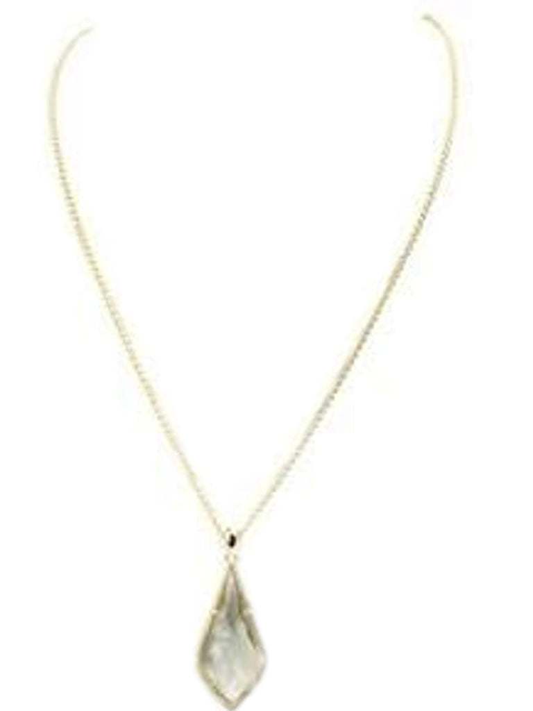 Adjustable Necklace with Black Diamond Cubic Zirconia Pendant, Gold
