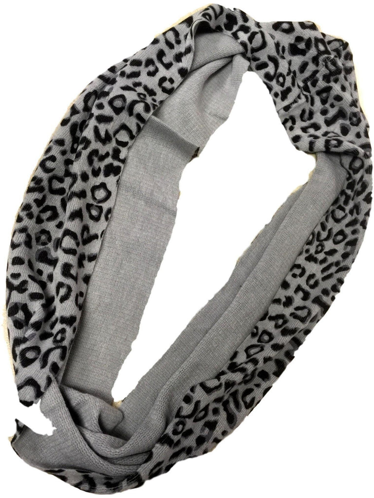 Animal print Infinity, Grey-SCARFS-S & J First-OS-Grey-Chic Boutique and Gift Emporium