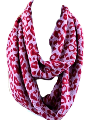 Animal print Infinity, Pink-SCARFS-S & J First-OS-Pink-Chic Boutique and Gift Emporium