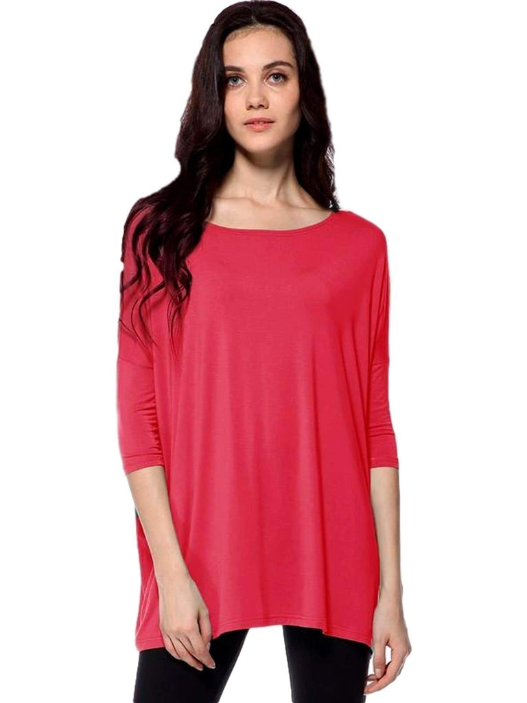 Authentic Piko 3/4 Sleeve Top, Watermelon-Piko-PIko Fashion-M-Watermelon-Chic Boutique and Gift Emporium