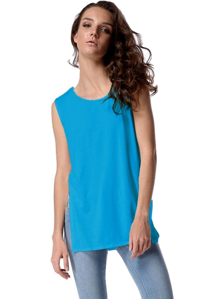 Authentic Piko Lighter Weight Tank Top, Blue-Piko-PIko Fashion-Chic Boutique and Gift Emporium