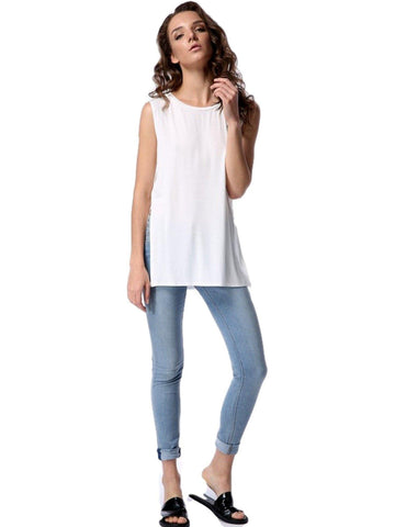 Authentic Piko Lighter Weight Tank Top, White-Piko-PIko Fashion-Chic Boutique and Gift Emporium