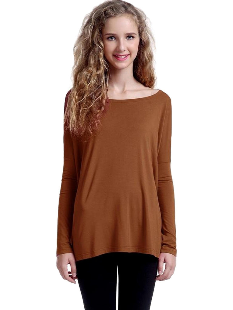 Authentic Piko Long Sleeve Top, Caramel-Piko-Piko Fashions-Chic Boutique and Gift Emporium