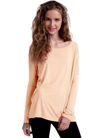 Authentic Piko Long Sleeve Top, Champagne-Piko-Piko Fashions-Chic Boutique and Gift Emporium
