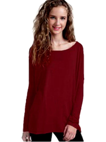 Authentic Piko Long Sleeve Top, Plum-Piko-Piko Fashions-Chic Boutique and Gift Emporium