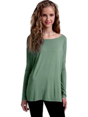 Authentic Piko Long Sleeve Top, Sage-Piko-Piko Fashions-Chic Boutique and Gift Emporium