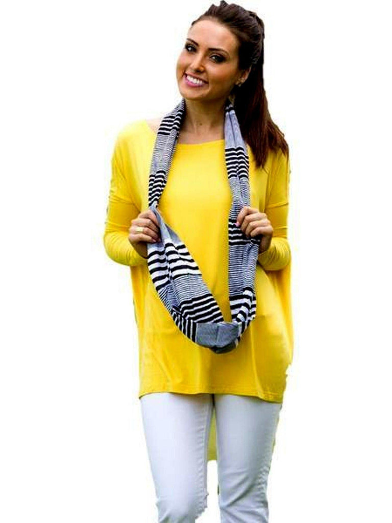 Authentic Piko Long Sleeve Top, Yellow-Piko-Piko Fashions-Chic Boutique and Gift Emporium