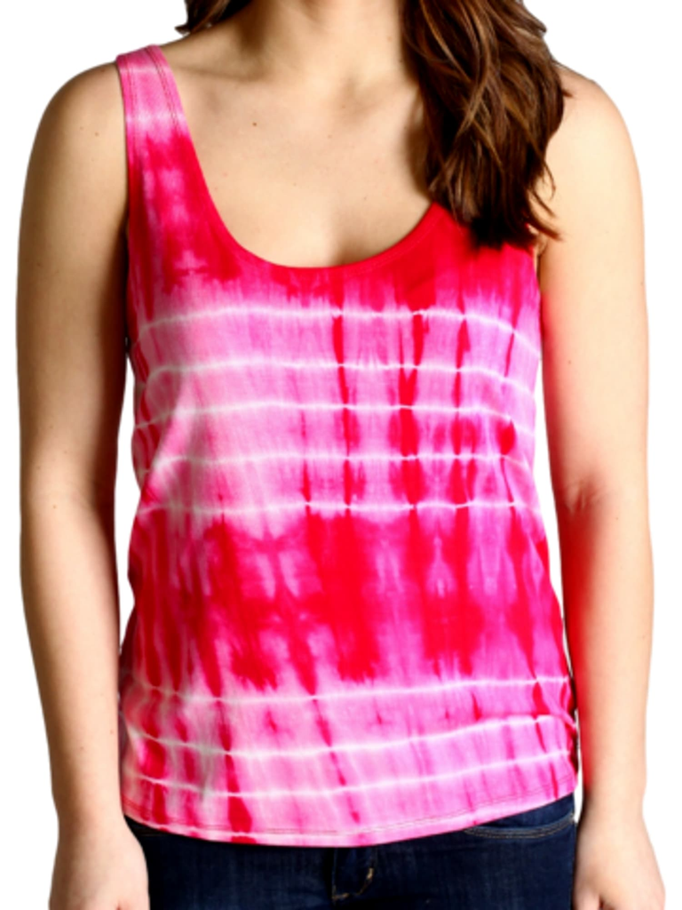 Authentic Tie Dye Piko Tank, Red-Piko-Piko Fashions-Chic Boutique and Gift Emporium