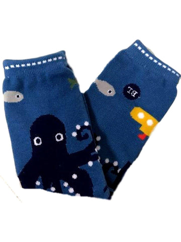 Baby Legs-1000 Leagues legwarmers-Octopus, Blue-BABY LEGS-Baby Legs-0-3 Mth-Blue-Chic Boutique and Gift Emporium