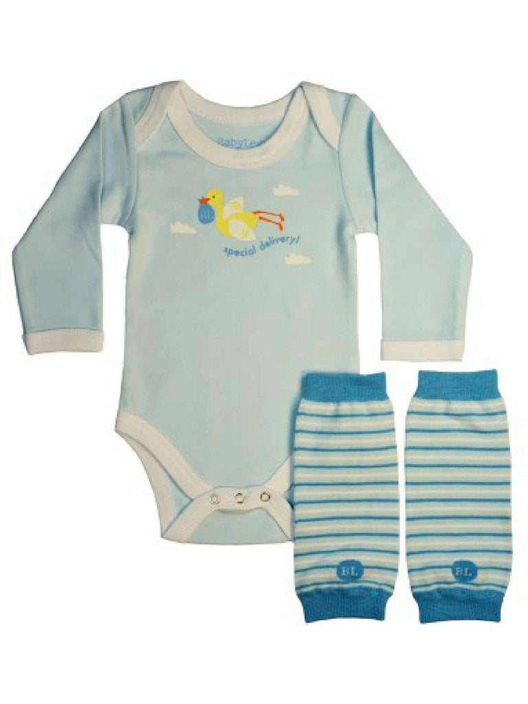 Baby Legs-Baby's First Bodysuit Baby Leg Set-BABY LEGS-Baby Legs-0-3 Mth-Blue-White-Chic Boutique and Gift Emporium