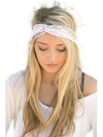 Bohemian Twist Head Band, Pink-LOVE YOUR HAIR-Leto-OS-Pink-Muli-Chic Boutique and Gift Emporium