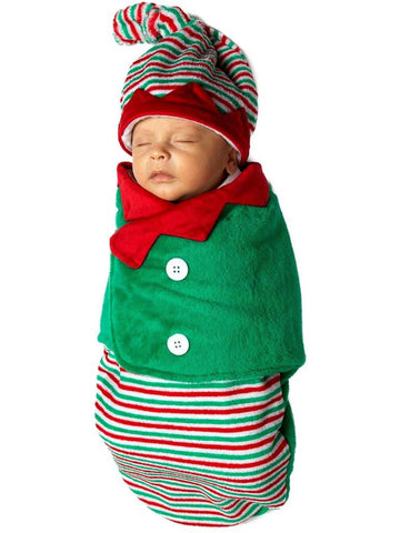 Bonnie Jean-Elf Swaddle-Chic's Christmas Collection-Bonnie Jean-OS-Green-Chic Boutique and Gift Emporium