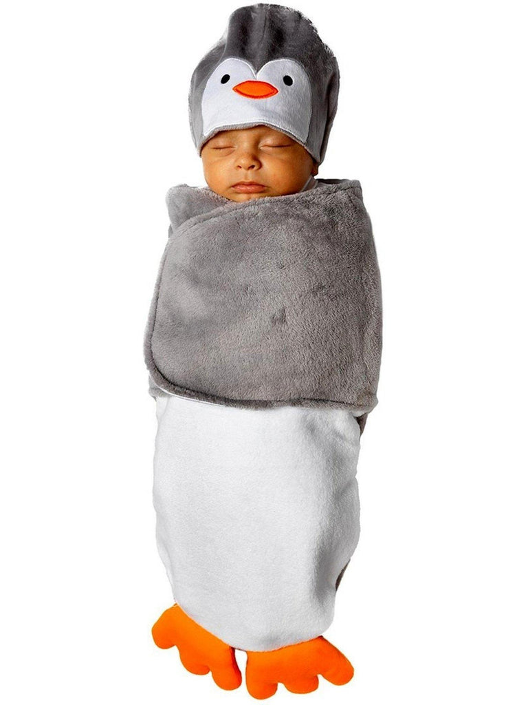 Bonnie Jean-Penquin Swaddle-Chic's Christmas Collection-Bonnie Jean-OS-Grey-Chic Boutique and Gift Emporium