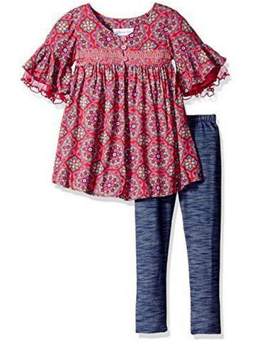 Bonnie Jean-Ruffle Challis Set, Fushsia-GIRLS SETS-Bonnie Jean-Chic Boutique and Gift Emporium