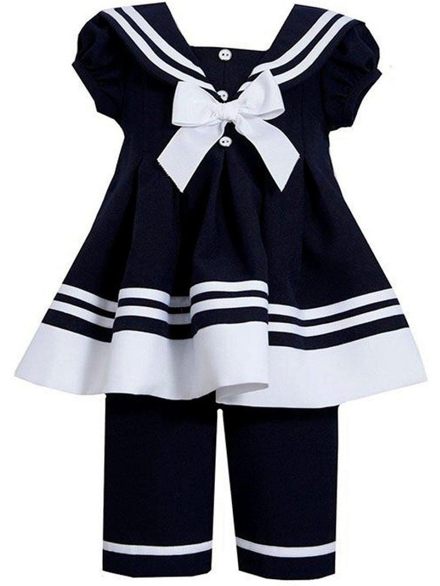 38eae24672c ... Bonnie Jean-Sailor Collar Set, Navy. (Size 4T)-Flash Sale