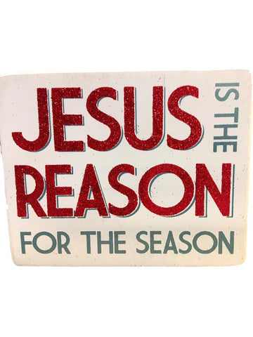 Box Sign - jesus is the Reason-CHRISTMAS GIFTS-primitives by kathy-OS-Multi-Chic Boutique and Gift Emporium