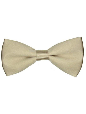 "Boys Adjustable Bow Tie, Beige-BABY BOYS-Anna Fashions-13"" (Min) x 17"" (Max)-Beige-Chic Boutique and Gift Emporium"