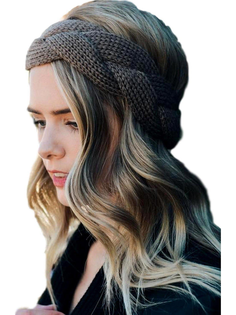 Braided crochet headband, Mocha-LOVE YOUR HAIR-Leto-OS-Mocha-Chic Boutique and Gift Emporium