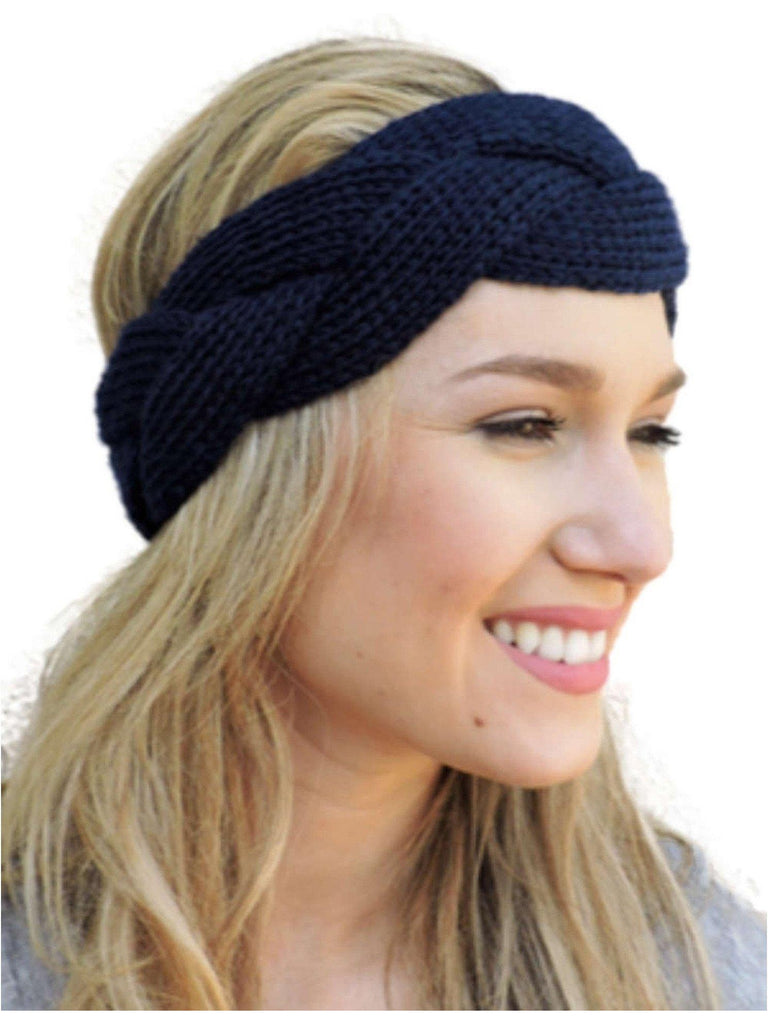 Braided Sweater Headband, Black-LOVE YOUR HAIR-Mark Ashton-OS-Black-Chic Boutique and Gift Emporium