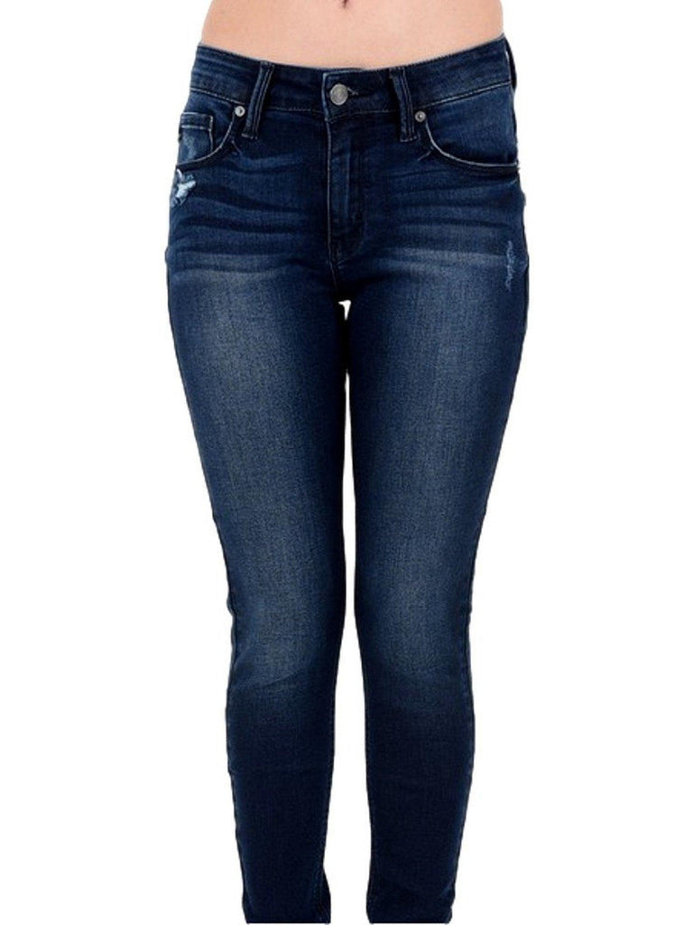 Denim Skinny Jeans, Medium Denim-JEANS-Kan Can-Chic Boutique and Gift Emporium