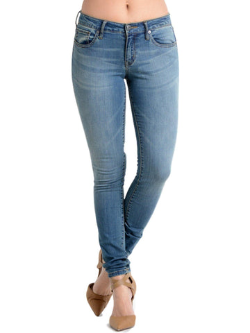 Denim Skinny Jeans, Medium Wash-JEANS-E BE-Chic Boutique and Gift Emporium