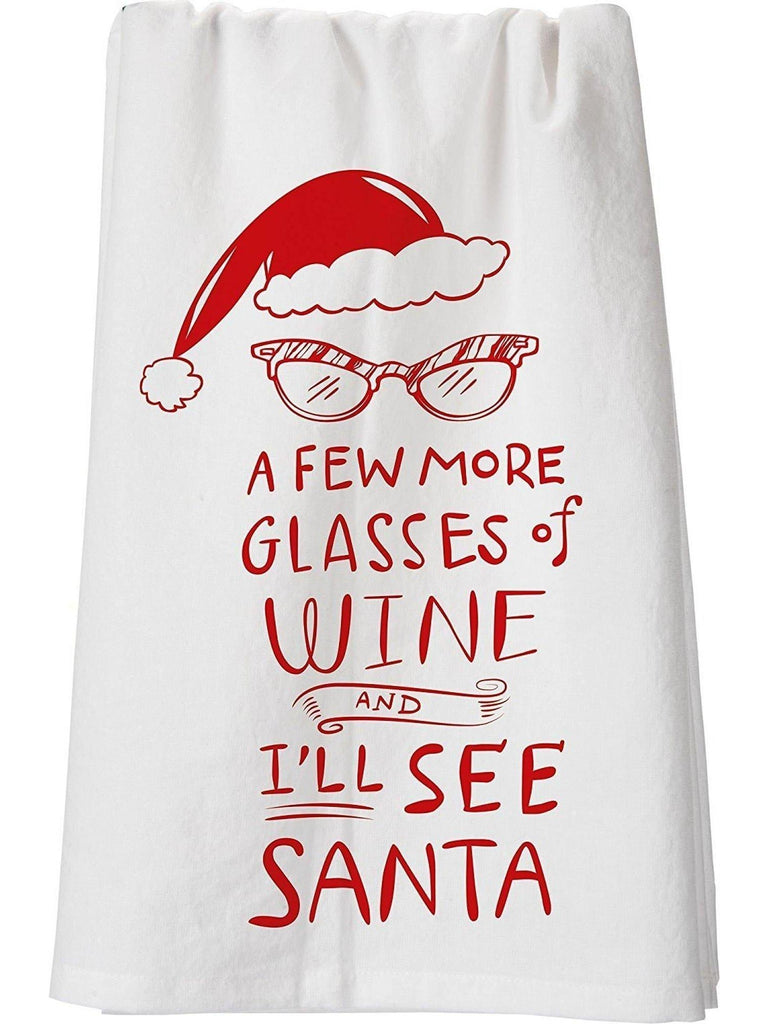 "Dish Towel - More Wine-CHRISTMAS GIFTS-primitives by kathy-28""-Multi-Chic Boutique and Gift Emporium"