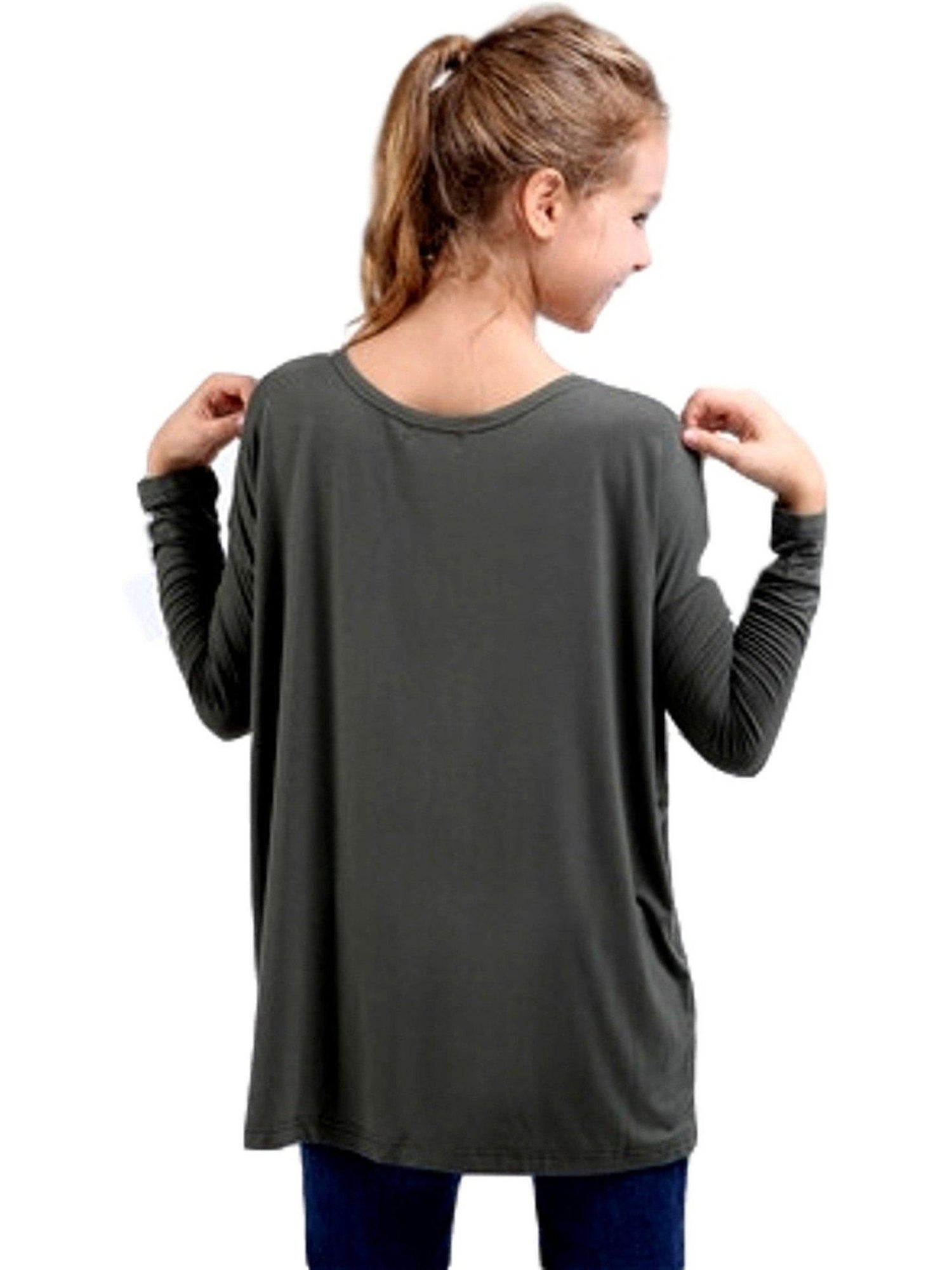 girls authentic long sleeve piko army