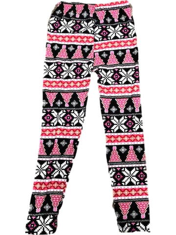 Girls Christmas Leggings, Multi-Chic's Christmas Collection-2NE1 APPAREL-Chic Boutique and Gift Emporium