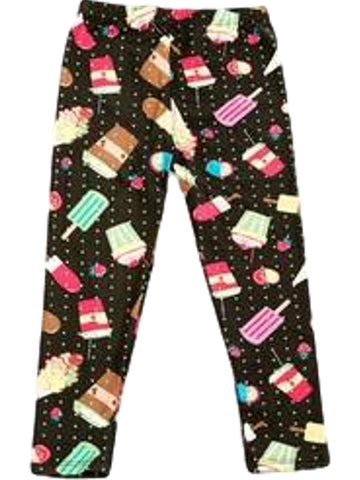 Girls Dessert Print Legging, Multi-GIRLS LEGGINGS-2NE1 APPAREL-Chic Boutique and Gift Emporium
