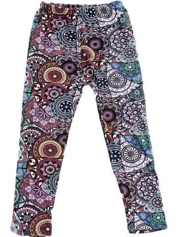 Girls Mandala Print Legging, Multi-GIRLS LEGGINGS-2NE1 APPAREL-Chic Boutique and Gift Emporium