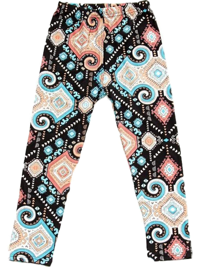 Girls Mulit Print Leggings, Multi-GIRLS LEGGINGS-2NE1 APPAREL-Chic Boutique and Gift Emporium