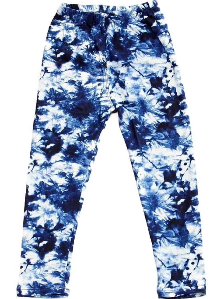 Girls tie Dye Print Legging, Blue-GIRLS LEGGINGS-2NE1 APPAREL-Chic Boutique and Gift Emporium