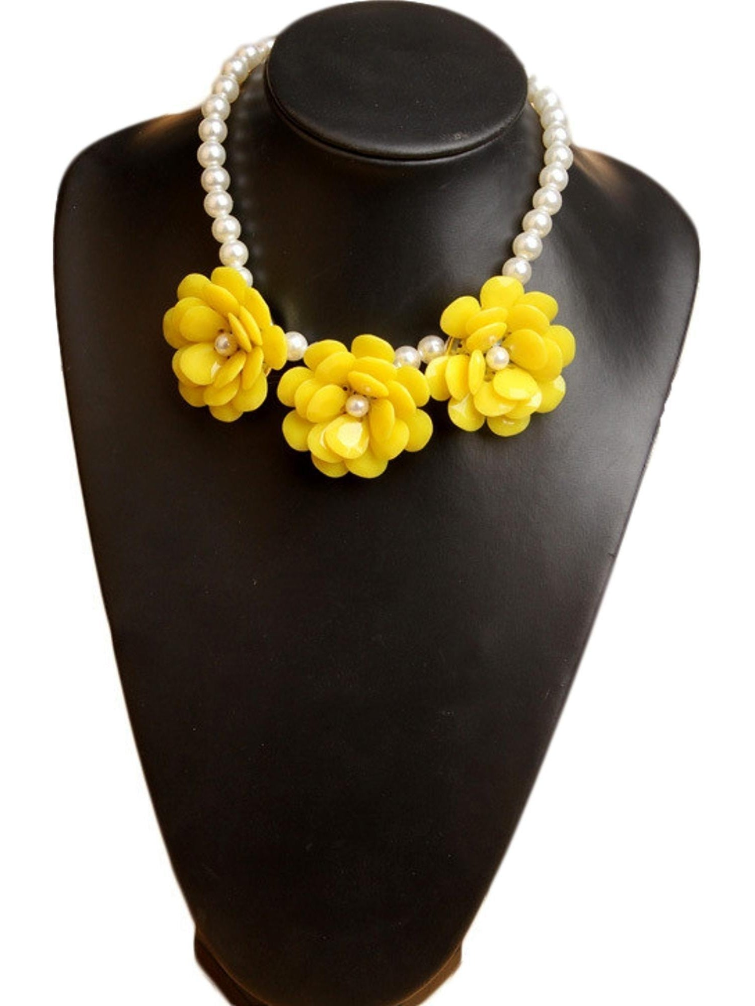 Girls trendy flower necklace yellow girls trendy flower necklace yellow girls jewelry dekoposh os yellow mightylinksfo Choice Image