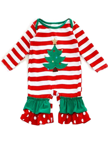 Infants Christmas tree onesie, Multi-Chic's Christmas Collection-Honeydew-Chic Boutique and Gift Emporium