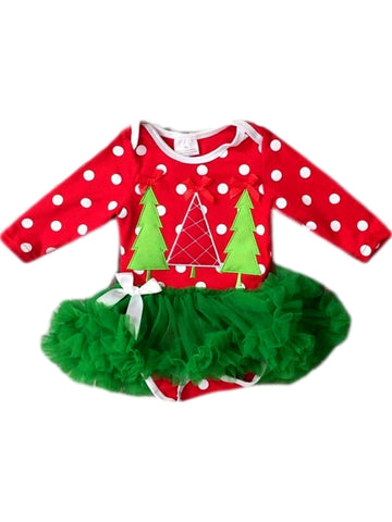 Infants Christmas tree Tutu, Multi-Chic's Christmas Collection-Honeydew-Chic Boutique and Gift Emporium