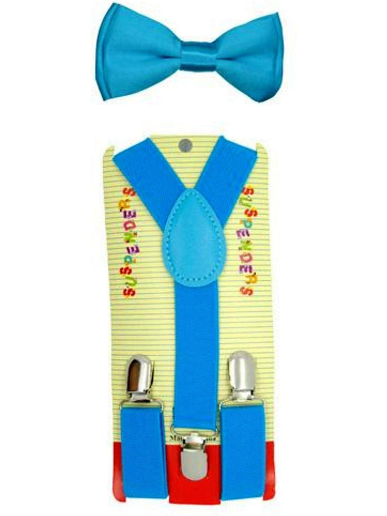 Kids Suspender Bow tie Set, Baby Blue-BABY BOYS-Anna Fashions-OS-Baby Blue-Chic Boutique and Gift Emporium