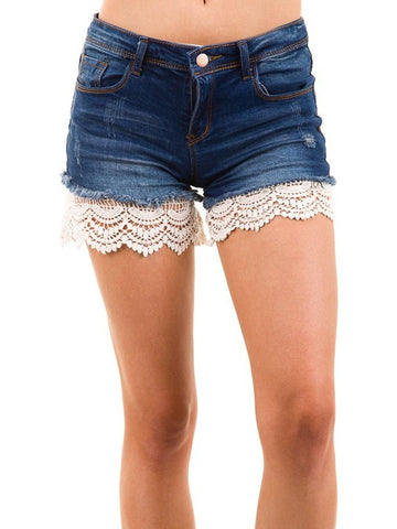 Lace Extender Shorts, Ivory-SHORTS-American Chic-XL-Ivory-Chic Boutique and Gift Emporium