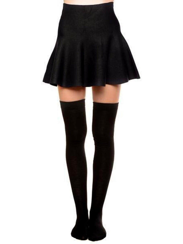 Ladies Thigh High Socks, Blk-BOOT SOCKS-Yelete-OS-Black-Chic Boutique and Gift Emporium