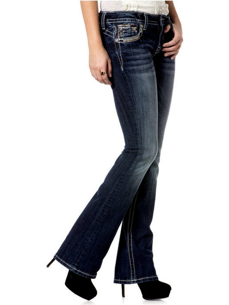 Miss Me-Puzzle Path Mid-Rise Boot Cut Jeans-MISS ME-Miss Me-Chic Boutique and Gift Emporium