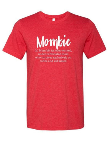 Mombie Definition Short Sleeve Graphic Tee, Vintage Red-GRAPHIC TOPS-OCEAN & 7TH-Chic Boutique and Gift Emporium