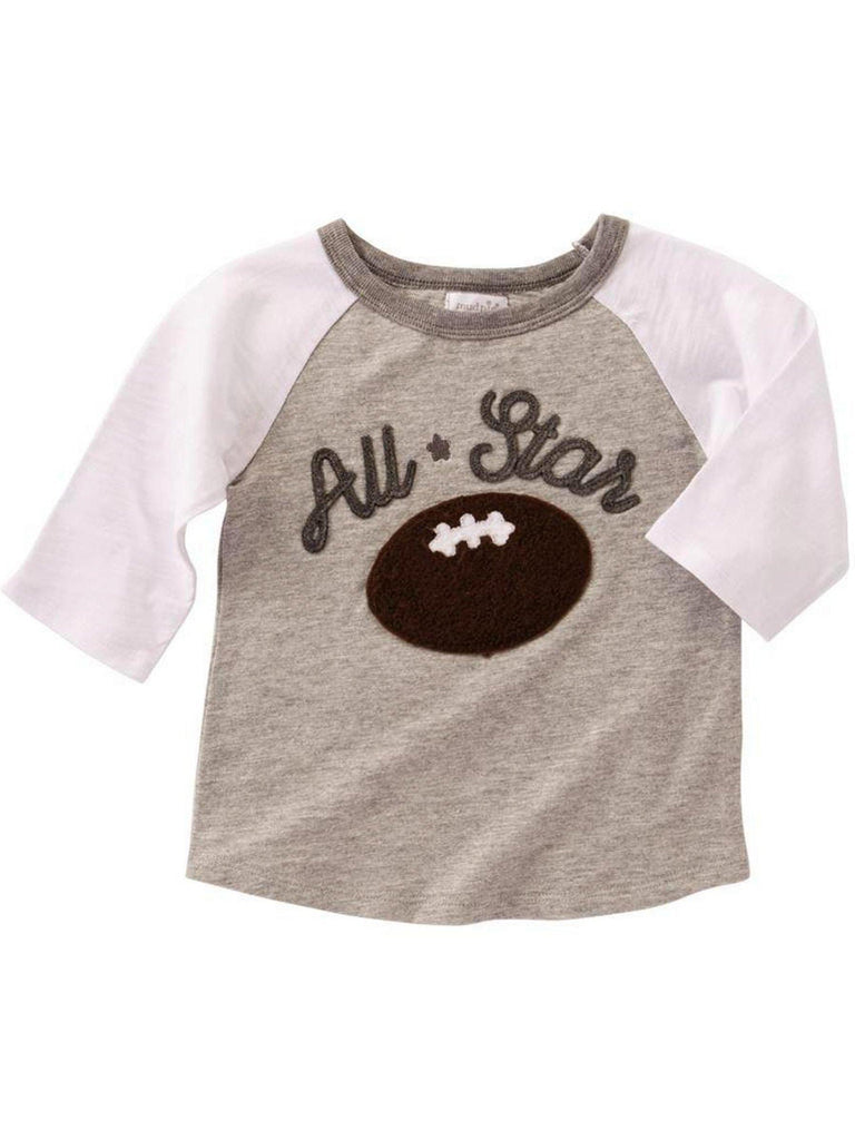 Mud Pie-All Star Football T-Shirt-MUD PIE TODDLER BOYS-Mud Pie-Chic Boutique and Gift Emporium