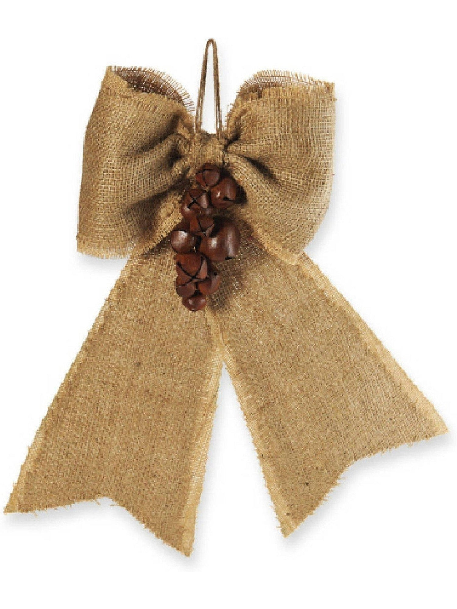 Mud Pie Burlap Bell Bow CHRISTMAS GIFTS